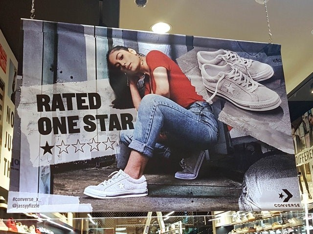 Cool - RATED ONE STAR NO DUC DIFFERE #converse x @jassyfizzle CONVERSE