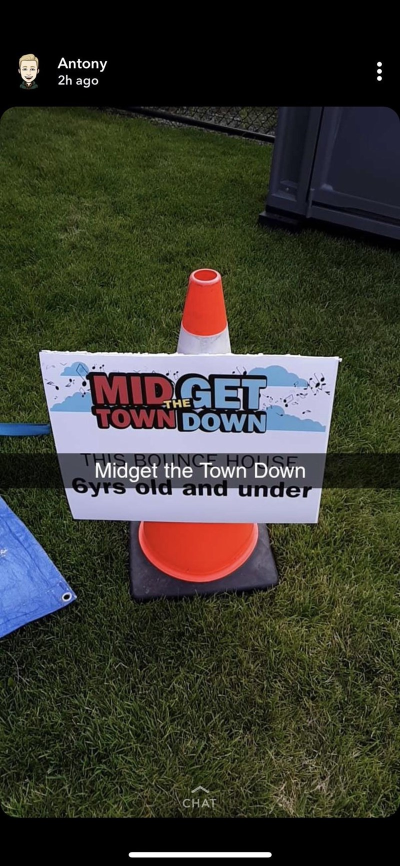 Grass - Antony 2h ago MIDGET TOWN DOWN THE THIS BOLINGE HOUSE Midget the Town Down 6yrs old and under CHAT