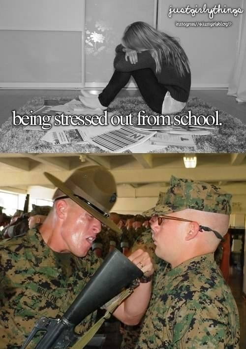 Soldier - gustrialgthinge instagrom/oustgirublogo beingstressed out from school. MOLLON