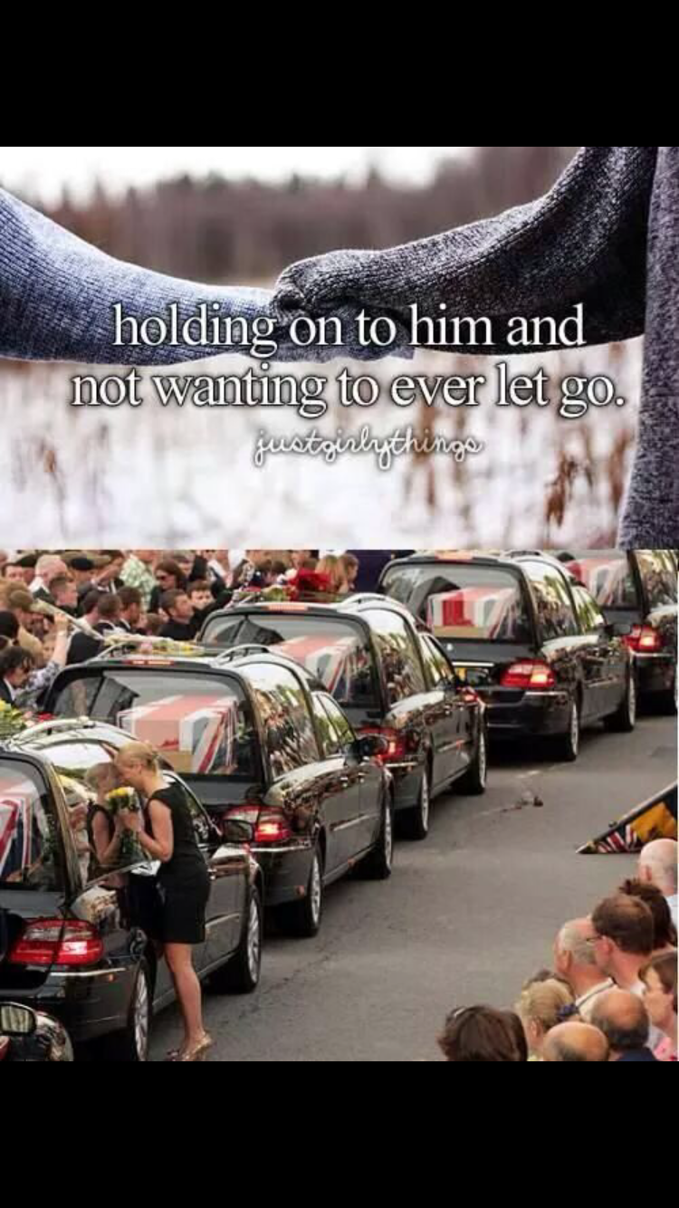 People - holding on to him and not wanting to ever let go. Bestrialgdringe