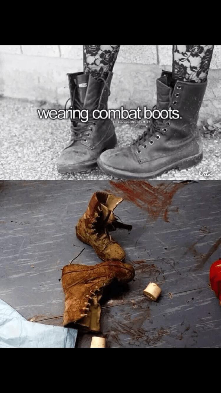 Footwear - weaning combat boots. LEDEOSONSTOSHILE