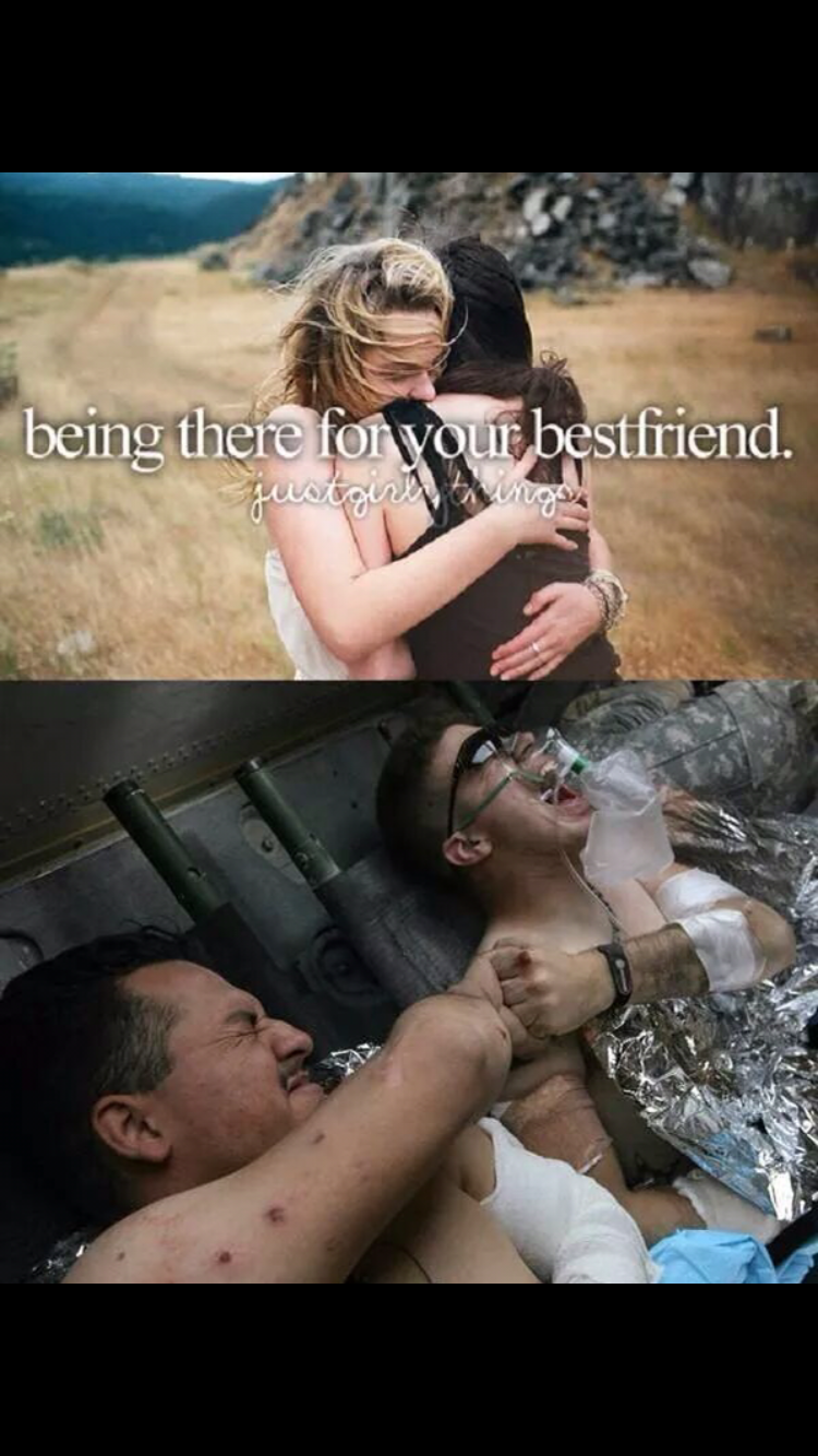 Photo caption - being there for your bestfriend.