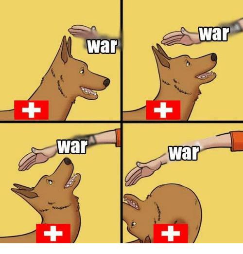 Cartoon - war war ++ + War war