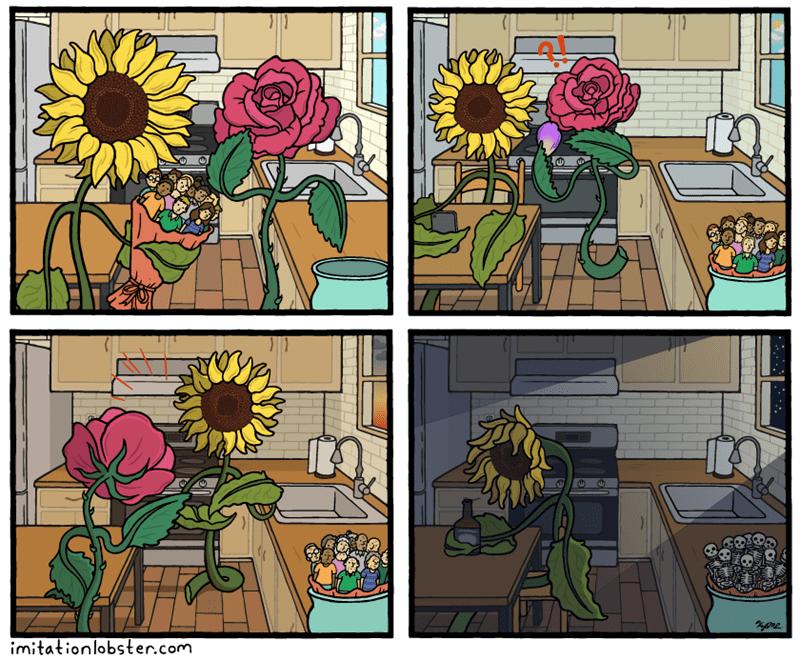 cuando en un mundo alternativo flores