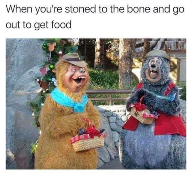 People - When you're stoned to the bone and go out to get food