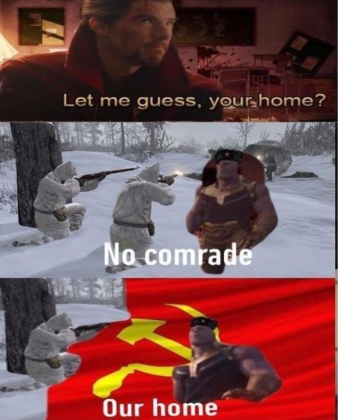 Poster - Let me guess, your home? No comrade Our home