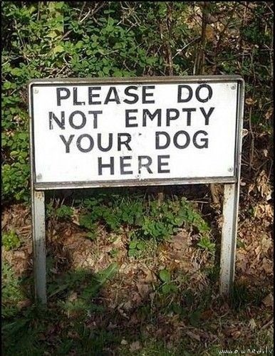 Nature reserve - PLEASE DO NOT EMPTY YOUR DOG HERE wned