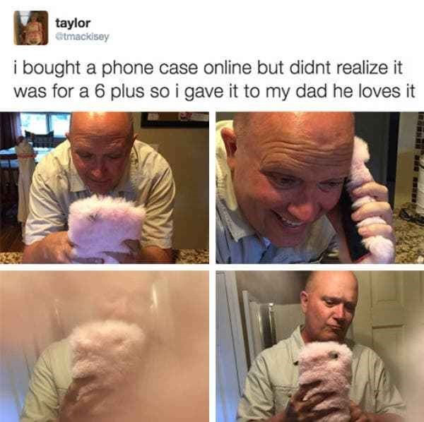 Nose - taylor etmackisey i bought a phone case online but didnt realize it was for a 6 plus so i gave it to my dad he loves it