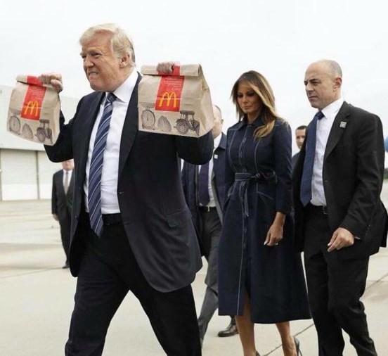 Trump meme taking home McDonald's