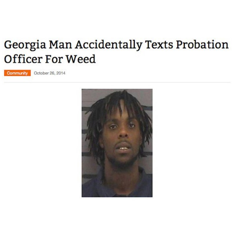 Face - Georgia Man Accidentally Texts Probation Officer For Weed Community October 26, 2014