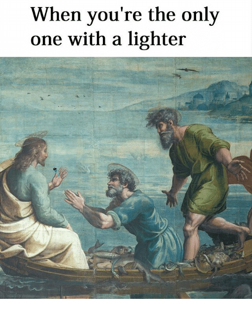 Illustration - When you're the only one with a lighter