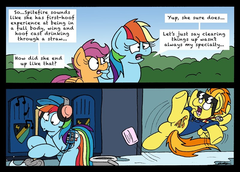 bob the dalek spitfire the washouts Scootaloo rainbow dash - 9213660928