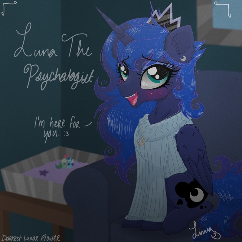 darkest lunar flower princess luna steven universe - 9213661952