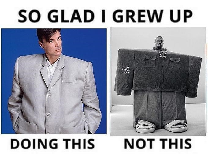 Suit - sO GLAD I GREW UP DOING THIS NOT THIS