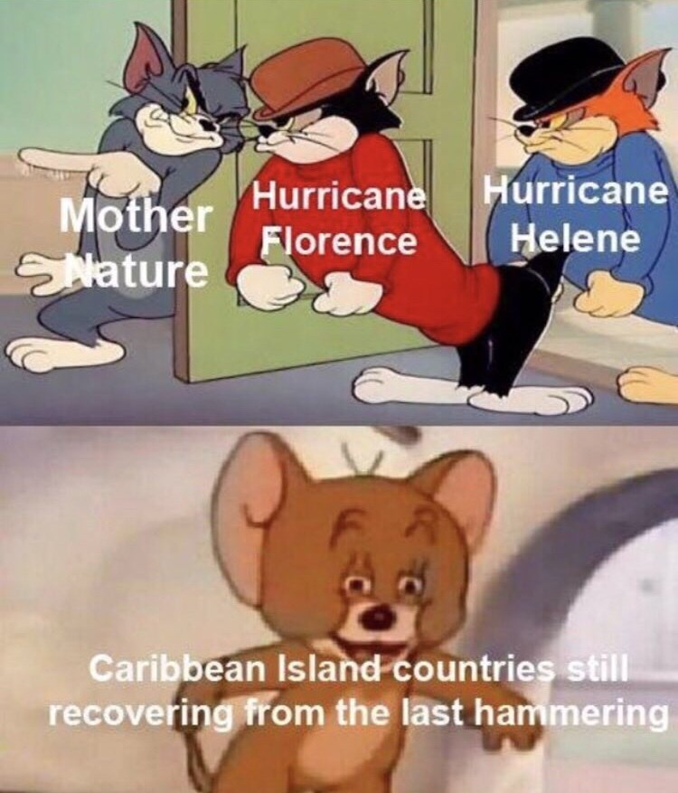 hurricane florence - Cartoon - Mother Hurricane Hurricane Florence Helene Nature Caribbean Island countries still recovering from the last hammering