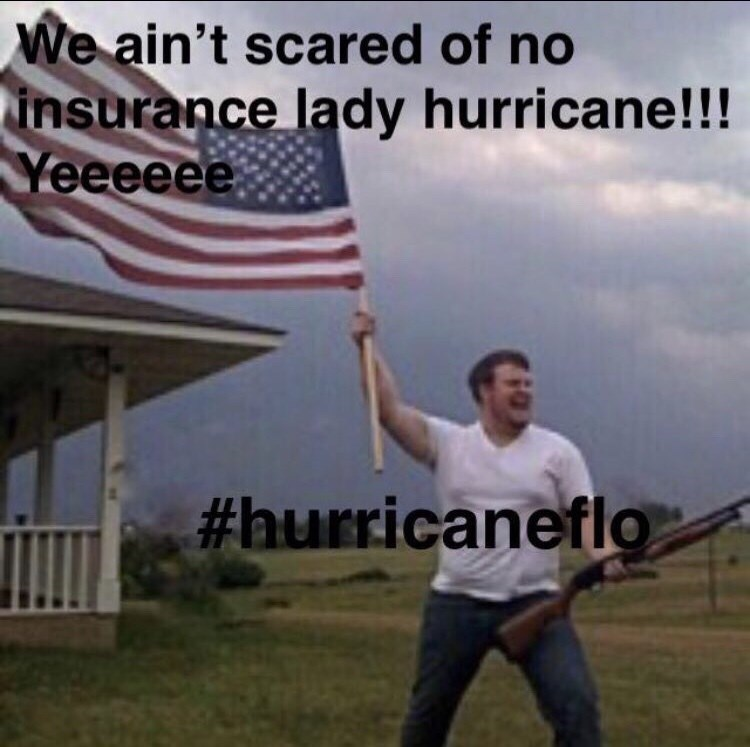 hurricane florence - Model aircraft - We ain't scared of no insurance lady hurricane!!! Yeeeeee #hurricaneflo