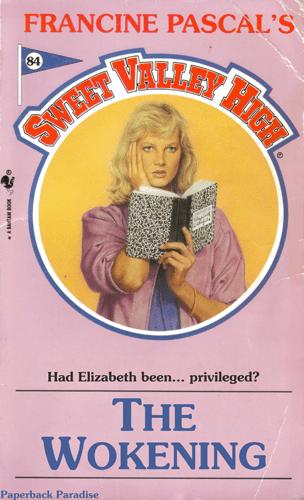 Vintage advertisement - FRANCINE PASCAL'S 84 SWISET VALLEY Had Elizabeth been... privileged? THE WOKENING Paperback Paradise HIGH