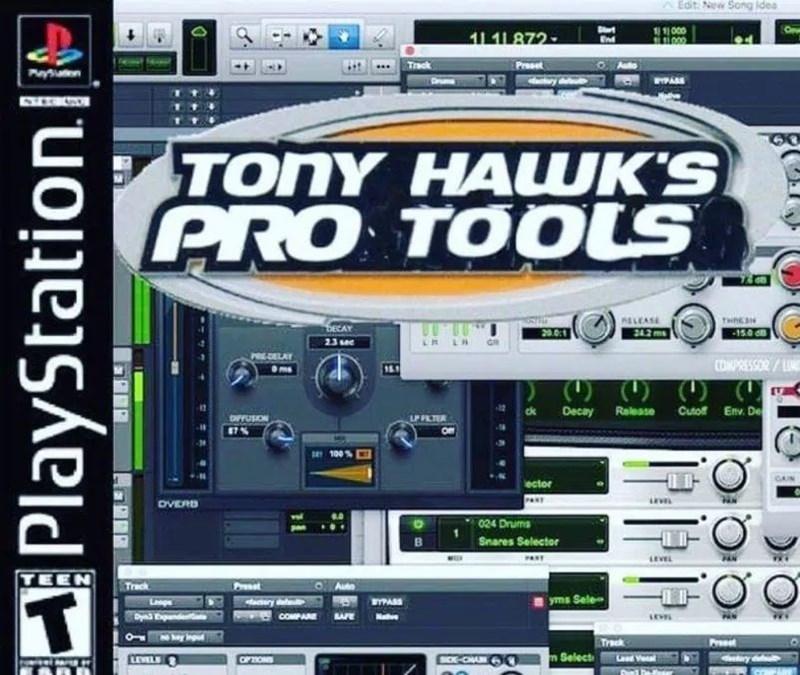 meme - Technology - Edit New Song ides Brt End 11000 11 11 872 TEeck Preset TONY HAWK'S PRO TOOLS ELCASE 242ms THREN DECAY 15.0 d 20.01 LA 23 see COMPRESSOR/L Release Cuto Env. De Decay ck LP PILTER 100 CAN ector DVERD 024 Drums Snares Selector ANY LEVEL TEEN ret Treck Auto T yms Sele ery del COMPAE BAFE Track Pres m Select SOE-CHA LEVEL CPONS Lasd Ve PlayStation