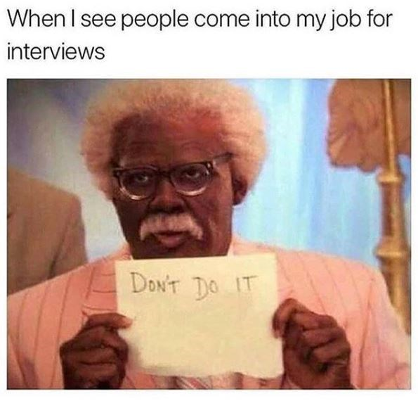 work meme about trying to save new employees