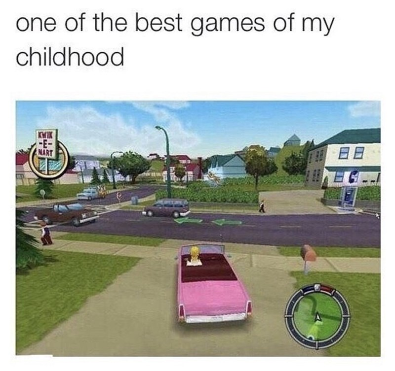 Motor vehicle - one of the best games of my childhood KWIK -E- NART
