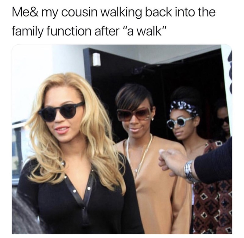 """Eyewear - Me& my cousin walking back into the family function after """"a walk"""""""