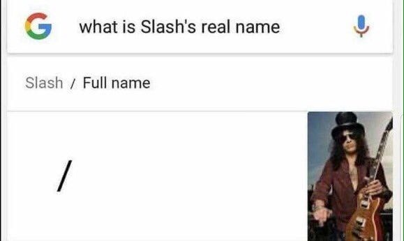Text - G what is Slash's real name Slash Full name /
