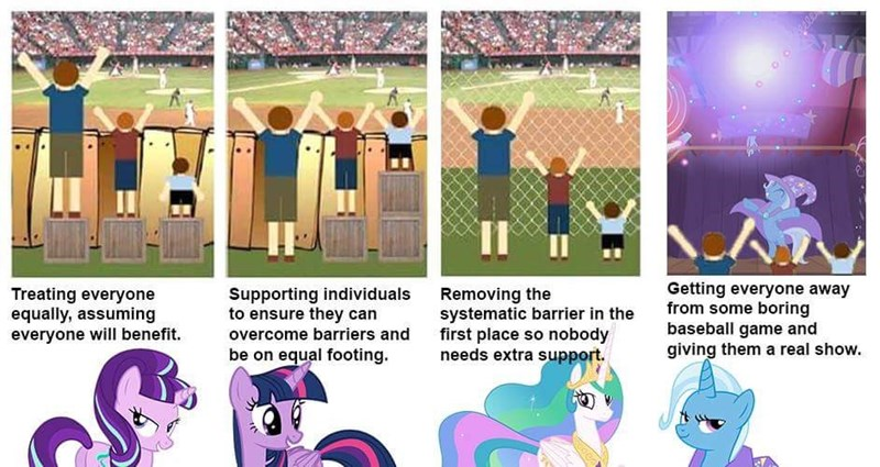equality vs equity the great and powerful trixie starlight glimmer twilight sparkle ponify princess celestia - 9214552576