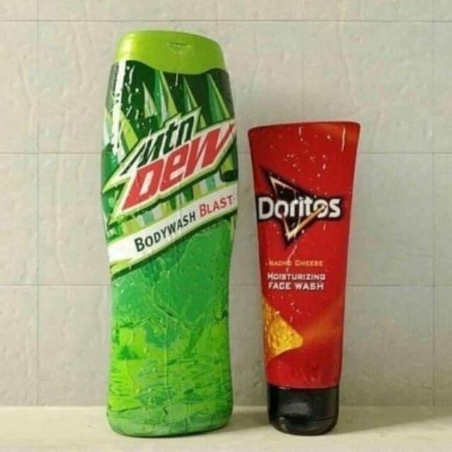 Drink - ith ZDew Dorites BODYWASH BLAST NACHE CHEESE MorSTURIZING FACE WASH