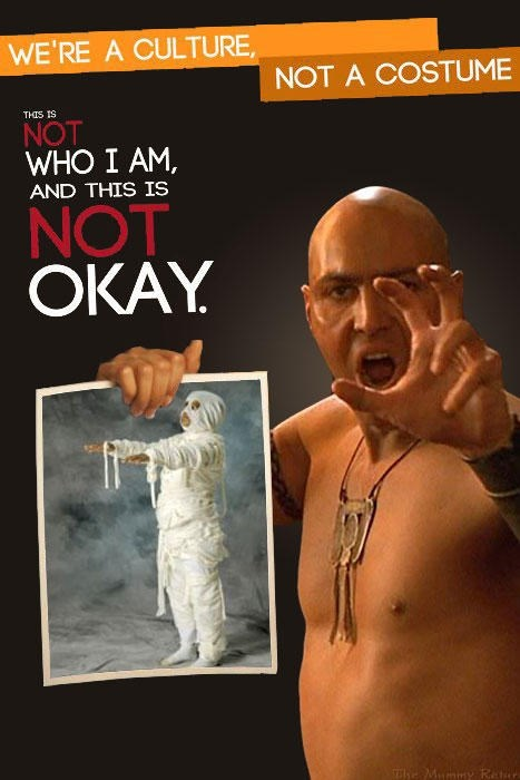 Album cover - WE'RE A CULTURE NOT A COSTUME THIS IS NOT WHO I AM, AND THIS IS OKAY NOT he Mummy R