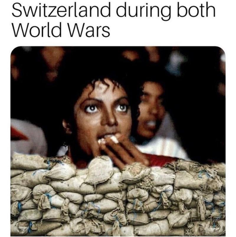 meme - Text - Switzerland during both World Wars