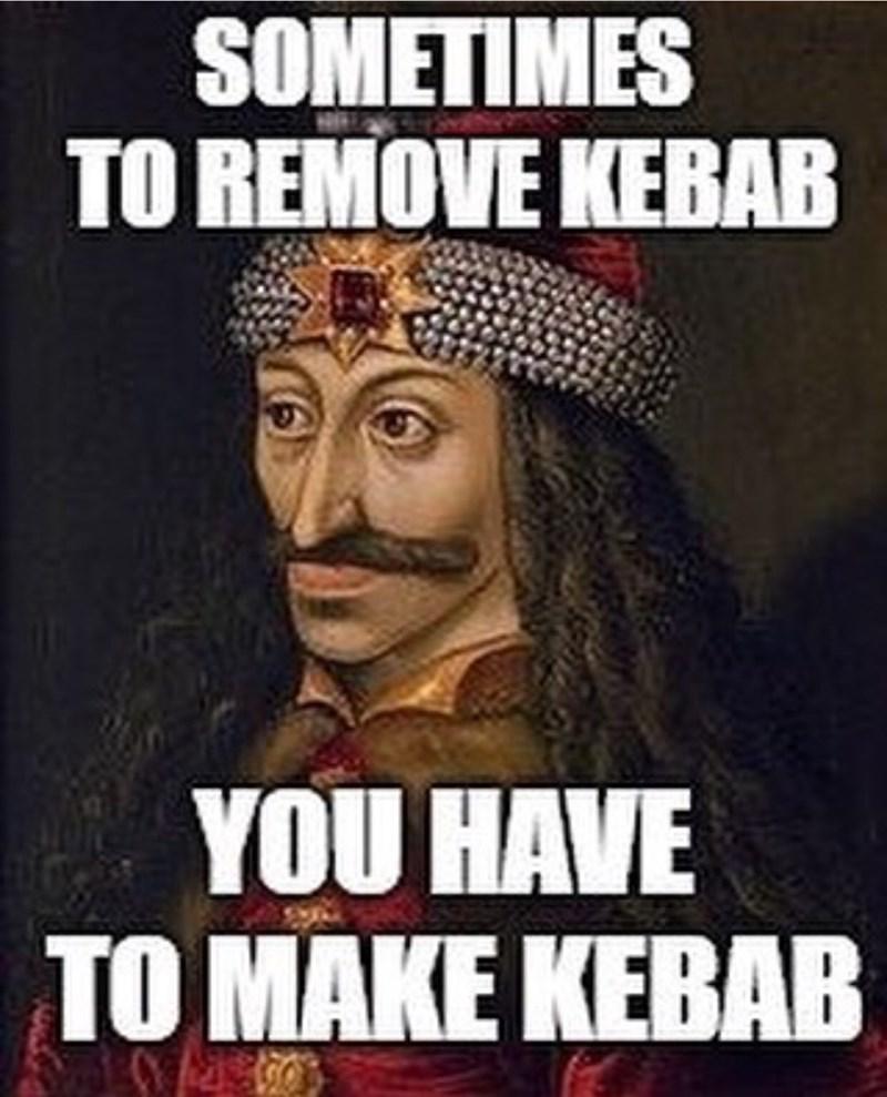 meme - Poster - SOMETIMES TO REMOVE KEBAB YOU HAVE TO MAKE KEBAB