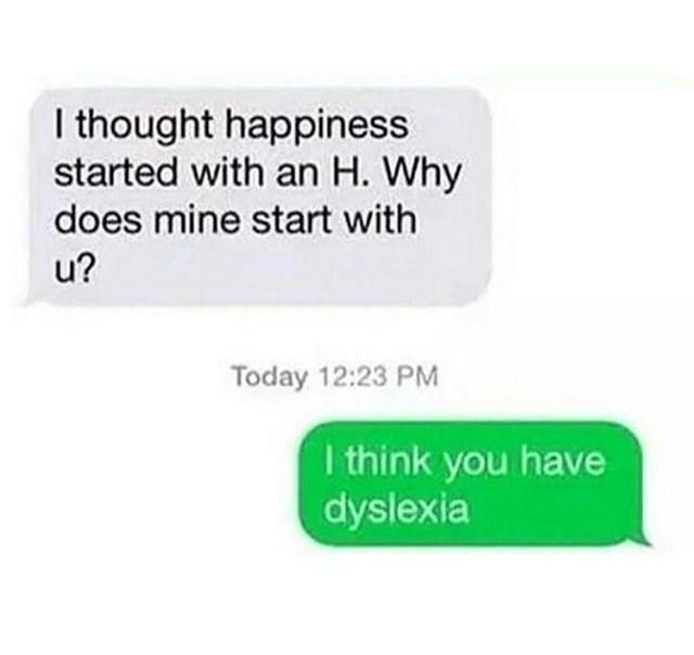 Funny meme about pickup line, dyslexia.