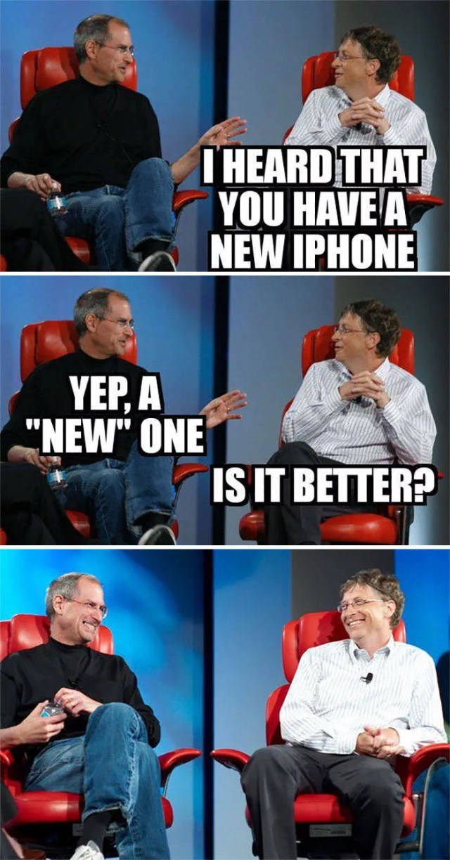 """Font - THEARDTHAT YOU HAVE A NEW IPHONE YEP,A """"NEW"""" ONE ISIT BETTER?"""