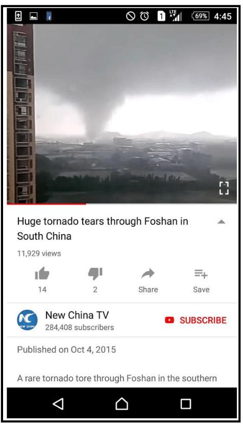 screenshot youtube tornado Huge tornado tears through Foshan in South China 11,929 views Share Save 14 2 CNew China TV 284,408 subscribers SUBSCRIBE ww.CHIN Published on Oct 4, 2015 A rare tornado tore through Foshan in the southern