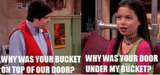 drake and josh meme - Facial expression - WHY WAS YOUR BUCKET WHY WAS YOUR DOOR ON TOP OF OUR DOOR? UNDER MY BUCKET?