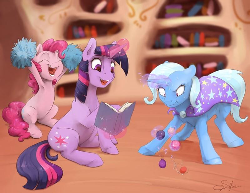 the great and powerful trixie silfoe twilight sparkle pinkie pie - 9216054784