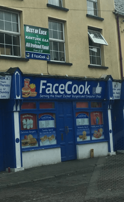 Building - BEST OF LUCK to KANTURK GAA In the All Ireland Final from all f FaceCook Dok FaceCook Hours Thursday der your L 12 ke Away Sunday 51069 Serving the finest Zucker' Burgers and 'Computer Chips Late slutey LUNCHTME MilkShakes LUNCHTIME SPECEISS V S Tuesday Special e1St e1 teeC Delicious Burgers