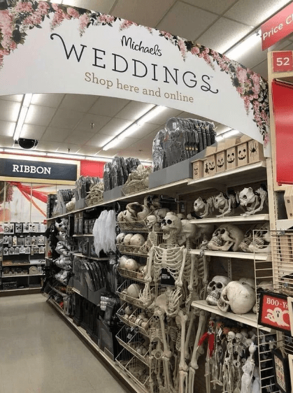 Retail - Price Michaels WEDDINGS 52 Shop here and online RIBBON B00-Y