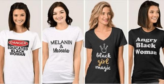 T-shirt - Angry Black Woman MELANIN & Maseara DANGER EDUCATED BLACK WOMAN Glack Sirl masic