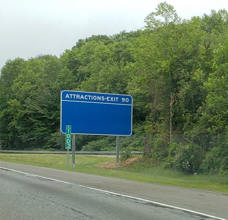 Road - ATTRACTIONS-EXIT 90 O1Oo2
