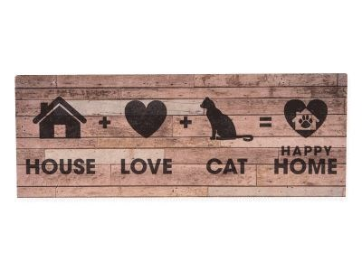 cute cat sign about having a cat completing a happy home