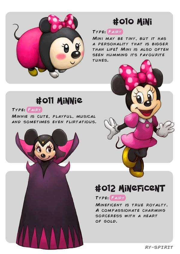 Cartoon - #o10 MiNi TYPE: FAIRY MINI MAY BE TINY, BUT IT HAS A PERSONALITY THAT IS BIGGER THAN LIFE! MINI IS ALSO OFTEN SEEN HUMMING ITS FAVOURITE TUNES #011 MiNNie TYPE:FAIRY MINNIE IS CUTE, PLAYFUL, MUSICAL AND SOMETIMES EVEN FLIRTATIOUS #o12 MiNeFiceNT TYPE: FAIRY MINEFICENT IS TRUE ROYALTY A COMPASSIONATE CHARMING SORCERESS WITH A HEART OF GOLD. RY-SPIRIT