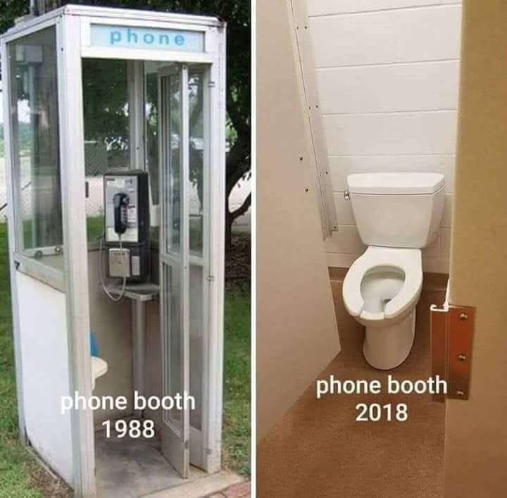 Toilet - phone phone booth 2018 phone booth 1988