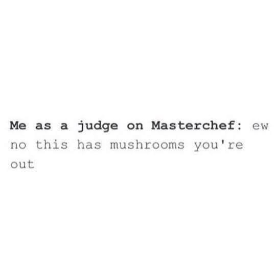Friday meme about being an unsophisticated judge on a cooking show