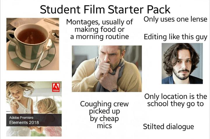 """""""Student film starter pack"""""""