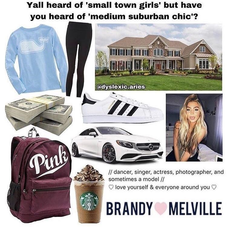 suburban girl starter pack meme with over sized sweater, leggings and Starbucks coffee