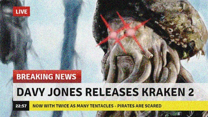 Seafood - LIVE BREAKING NEWS DAVY JONES RELEASES KRAKEN 2 NOW WITH TWICE AS MANY TENTACLES PIRATES ARE SCARED 22:57