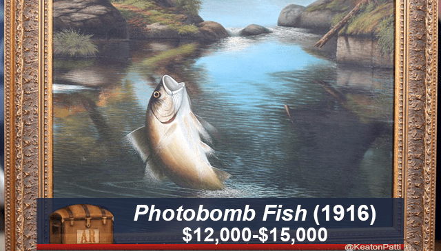 Marine mammal - Photobomb Fish (1916) $12,000-$15,000 AR @KeatonPatti