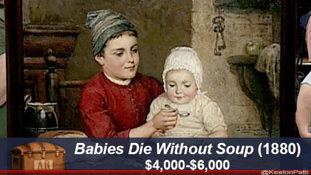 People - Babies Die Without Soup (1880) $4,000-$6,000 AR @KeatonPatti