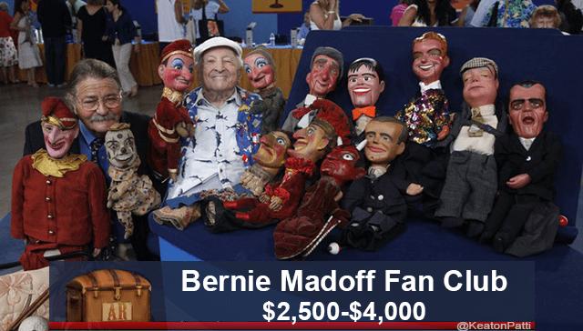 People - Bernie Madoff Fan Club $2,500-$4,000 AR @KeatonPatti